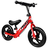 """PHAT Kids Balance Bike, 12"""" Wheels, Kids Bicycle for Ages 2 to 5 Years, Red"""