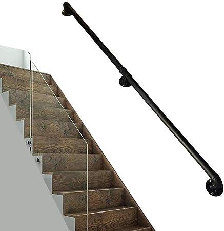 Asidero Pasamanos Soportes Pasamanos barandilla multifunción Adecuado for escaleras interiores Villas Lofts Vintage Bar personalizada sujeción de las puertas de hierro Diámetro de tubería de 1,2 pulga: Amazon.es: Hogar