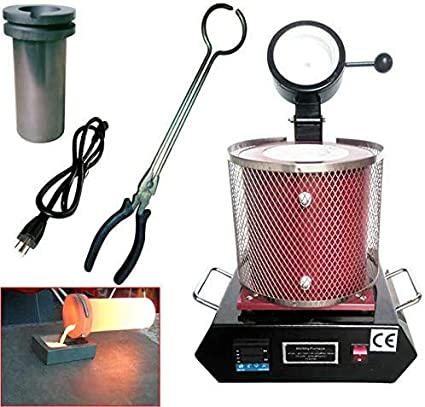 Silver 3KG Gold Melting Furnace Heating Wires and Temperature Probes Copper 2100W 2100F Digital Electric Melting Furnace for Melt Scrap Aluminum Gold