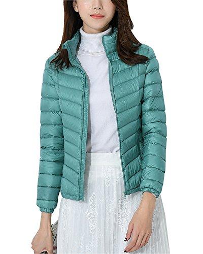 ZhuiKun Womens Down Jacket Stand Collar Lighweight Packable Puffer Jacket Coat Green