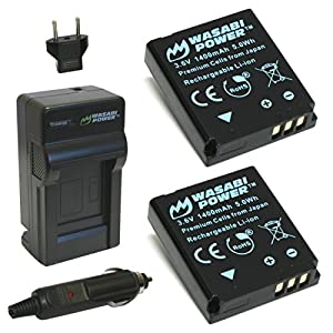 Wasabi Power Battery and Charger for Kodak LB-080