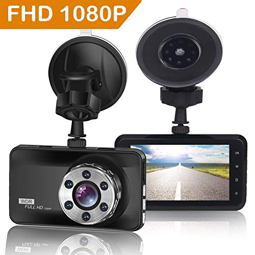 ORSKEY Dash Cam 1080P Full HD Car DVR Dashboard Camera Video Recorder 170...