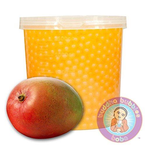Mango Yogurt Drink - Popping Mango Boba 42 Ounces / 12+ Drinks Buddha Bubbles Boba Bite & Burst