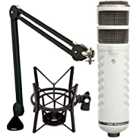 Rode Podcaster Booming Kit: Podcaster, PSA1 Arm, and PSM1 shock mount