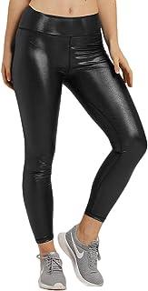 Cihui Donna Stretch Pu Pelle Lunghi Pantaloni Vita Alta Elastico Skinny Leggings Treggins Jogging Sportivi Pants