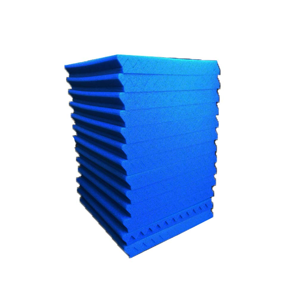50 Pack All -Black/Blue Acoustic Panels Studio Foam Wedges 1'' X 12'' X 12'' (50pack, Black&Blue) by guohongus (Image #3)
