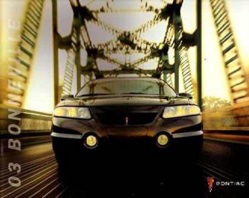 Bonneville Sales Pontiac Brochure (2003 Pontiac Bonneville Sales Brochure Literature Book Advertisement Options)
