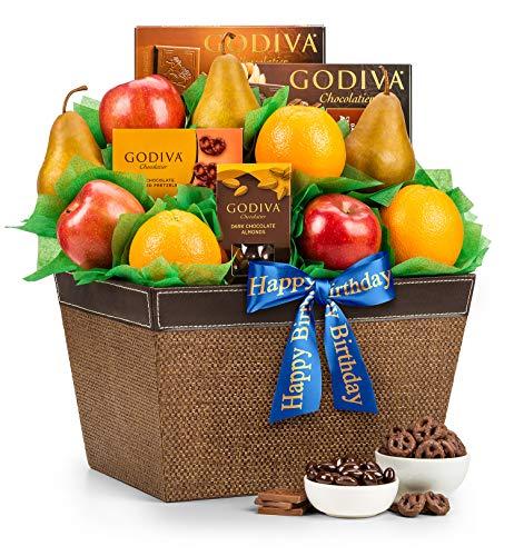 Fresh Fruit & Godiva Chocolates Gift Basket
