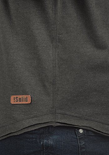 shirt Melange À solid Longues t Taoki Homme Grey Dark nbsp; 8288 Manches HxUqq4w6