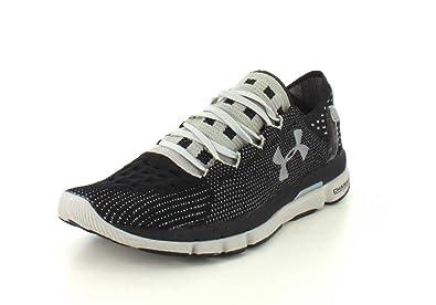Under Armour Mens SpeedForm Slingshot Black/Aluminum Running Shoe - 8