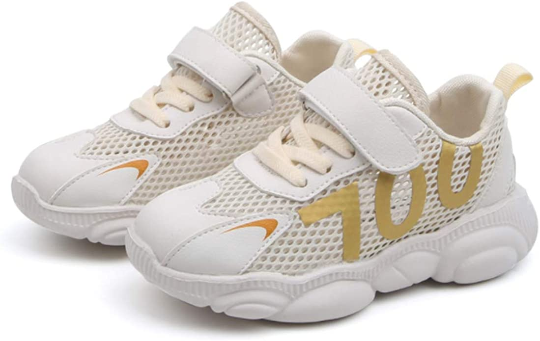 laideqi Toddler Boys Running Sneakers Kids Breathable Lightweight Walking Sports Shoes