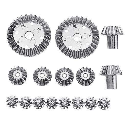 2 16PC Upgrade Metal for 12428-A 12428-B 12428-C /12423 Rc Car Parts - RC Toys & Hobbies RC Car Parts - 8X 12T Differential Asteroid Teeth, 4X 24T Differential Planetary -