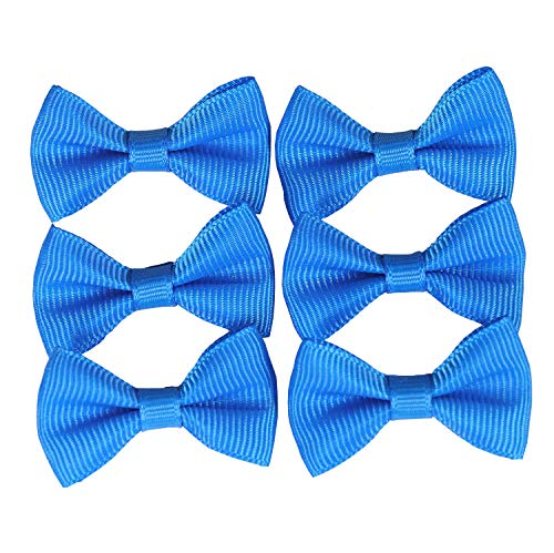 YAKA 100PC Grosgrain Ribbon Mini Bow Ties Craft,Scrapbooking Embellishmen DIY Projects,Bowties Decorations for DIY Kids Hair Clips,Pets Hair Bows(1.5