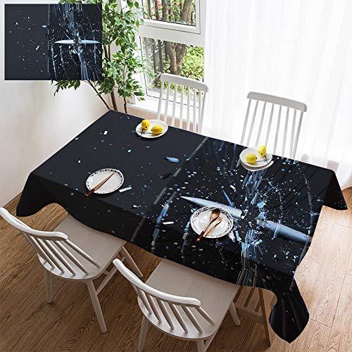 HOOMORE Simple Color Cotton Linen Tablecloth,Washable, 3D Render Last Shot Decorating Restaurant - Kitchen School Coffee Shop Rectangular 78×54in