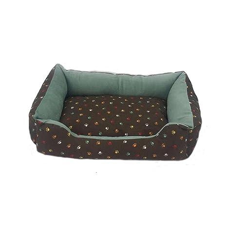 WYXIN Las huellas forman la cama del animal doméstico El sofá rectangular extra grueso del gato