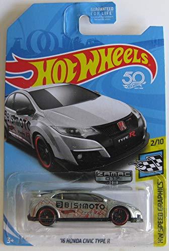 (Hot Wheels 2018 Walmart Exclusive Zamac Hw Speed Graphics 2/10 - '16 Honda Civic Type)
