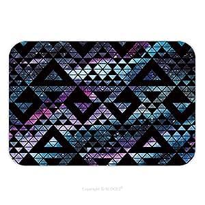 Franela de microfibra antideslizante suela de goma suave absorbente Felpudo alfombra alfombra alfombra Galaxy Seamless Patrón con triángulos y formas geométricas Vector Trendy ilustración 411297064para interior/al aire libre/Bate