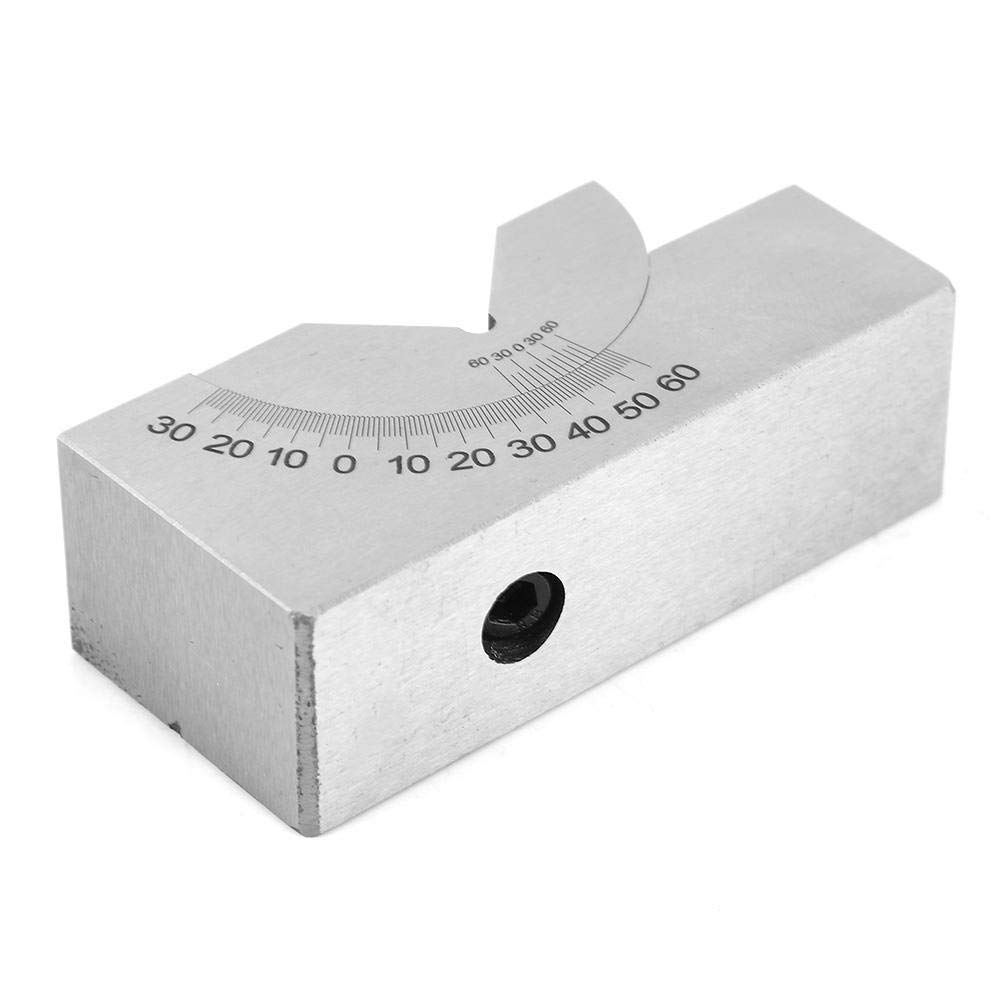 High Precision Gauge Micro Milling Setup Angle Blocks with Wrench for Milling Lathe Angle V Block Milling Stainless Steel Micro Adjustable Angle V Block