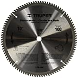 TRUPER ST-10100A 10'' Aluminum Cutting Saw Blade, 100 teeth, center 5/8