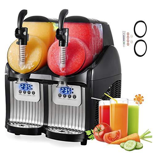 EOSAGA Slushy Machine 110V Mini Slush Frozen Drink Machine Commercial Smoothie Maker (Black)