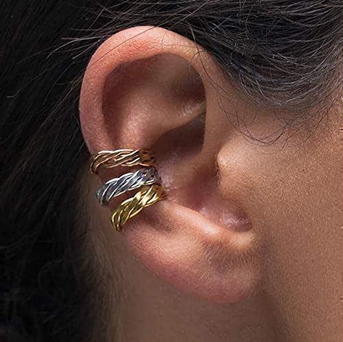 Juego de 3 puños de oreja no piercing, regalo no