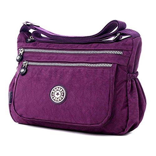 younuo-womens-pure-colors-lightweight-casual-shoulder-bags-zipper-nylon-messenger-crossbody-bag-purs