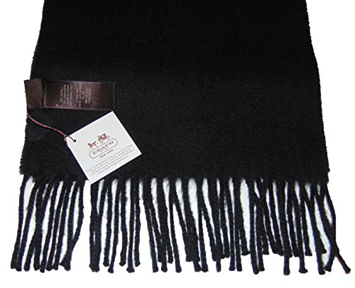 Coach Women's Wool Cashmere Blend Muffler Soft Fringed ()