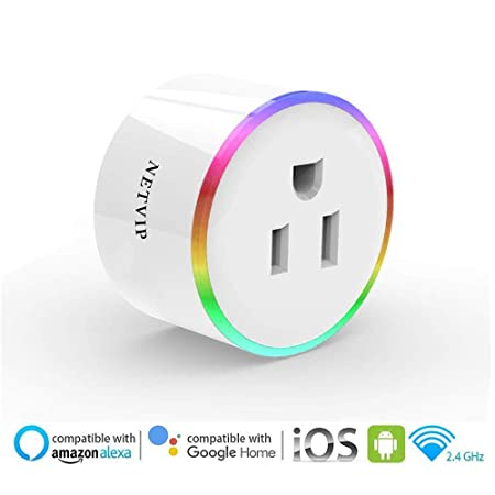WiFi Smart Plug Socket Compatible with Amazon Alexa Google Assistant IFTTT, Mini Wireless Outlet with Remote Control and Timer Function, No Hub Required, ETL and FCC Certified Only 27.99 for 2 Packs