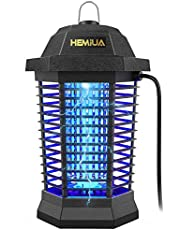 HEMIUA Bug Zapper for Outdoor and Indoor, Waterproof Insect Fly Pest Attractant Trap, 4200V Powered Electric Mosquito Zappers Killer for Backyard, Patio (Black)