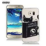 OuDu Silicone Case for Samsung Galaxy S6 Soft TPU Rubber Cover Flexible Slim Case Smooth Lightweight Skin Ultra Thin Shell Creative Design Cover - World Domination for Cats