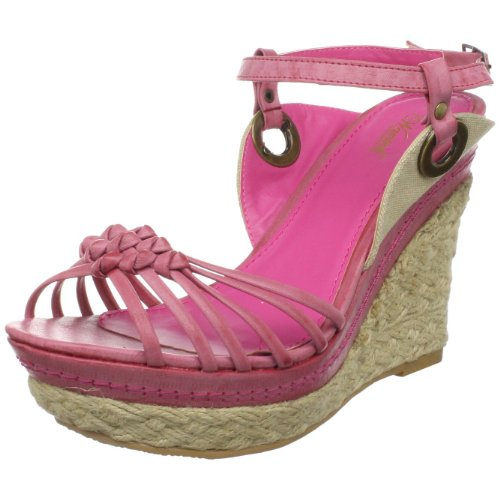 Wanted Shoes Women's Notti Wedge Sandal,Pink,8.5 M US