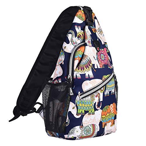 MOSISO Sling Backpack, Multipurpose Crossbody Shoulder Bag Travel Hiking Daypack, Elephant