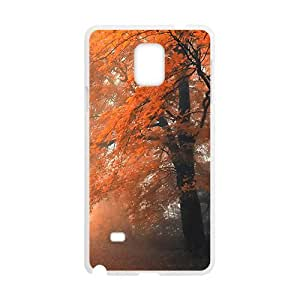 Attractive Orange Trees White Phone Case for Samsung Galaxy Note4