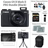 Canon PowerShot G9 X Mark II SNAP MORE Digital Camera BUNDLE: Canon G9 X Mark II (Black) + 64GB Memory Card + Card Reader + Screen Protectors + Tripod + Case + Replacement Battery - DigitalAndMORE!