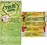 True Lime Dispenser Pack 100ct, PLUS 5 Free Sample sticks of True Lemonade, Orange Mango, Raspberry, Peach, and Black Cherry. Natural Flavored Water Enhancer, Great beverage option for Paleo Diet, Adkin's Diet, and other healthly diet programs.