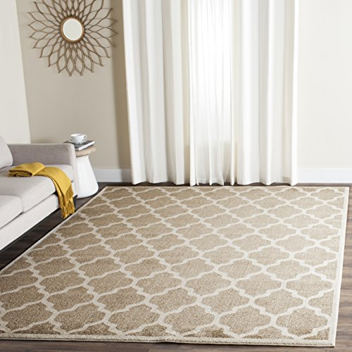 Wheat Rug (Safavieh Amherst Collection AMT420S Wheat and Beige Indoor/ Outdoor Area Rug (8' x 10'))