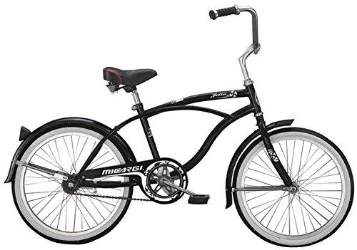 Micargi Jetta Boy's Black Beach Cruiser Bike Bicycle, 20