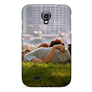 Faddish Phone Couple Relaxing Grass Case For Galaxy S4 / Perfect Case Cover