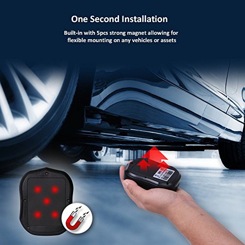 TKSTAR GPS Tracker, Real Time Vehicle GPS Tracking Device Anti Thieft for  Car Truck Motorcycle Fleet Mangement TK905
