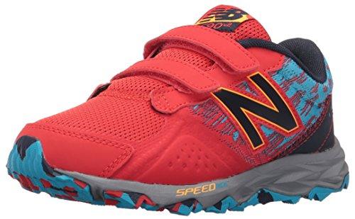 New Balance Boys' KE690V2 Running Shoes, Red/Blue, 1.5 M US Little Kid