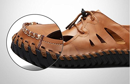 beach 2017 casual Brown new sandals leather shoes summer shoes non men's slip breathable cUUvq7XrZ