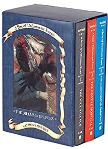 The Dilemma Deepens: A Box of Unfortunate Events, Books 7-9 (The Vile Village; The Hostile Hospital; The Carnivorous Carnival)
