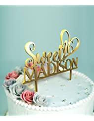 Sweet 16 Birthday Cake Topper with Customizable Name and Color D-23