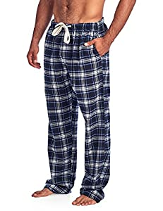 Ashford & Brooks Mens Super Soft Flannel Plaid Pajama Sleep Pants