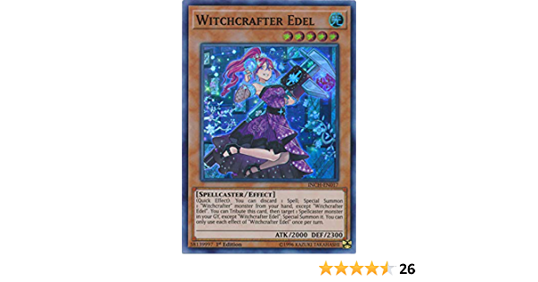 INCH-EN017 Witchcrafter Edel Super Rare 1st Edition Mint YuGiOh