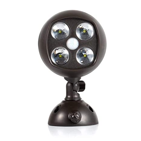 Luz de seguridad con sensor de movimiento 4LED con detector de movimiento, IP65 impermeable,