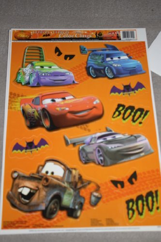 Disney Cars Halloween Color Clings Window Mirror Art Stickers by Disney