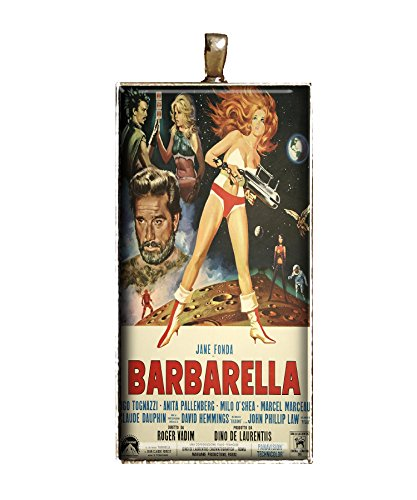 Barbarella necklace handmade Classic Movie poster necklace jewelry gift pendant charm