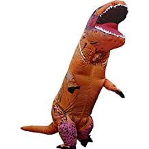 Adult Inflatable T-Rex DINOSAUR COSTUME | Breathable | Head is Visible Through a Hole