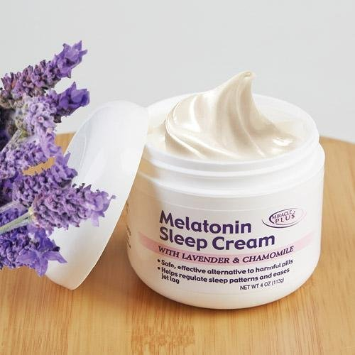 - Melatonin Sleep Night Cream With Lavendar & Chamomile (4oz)